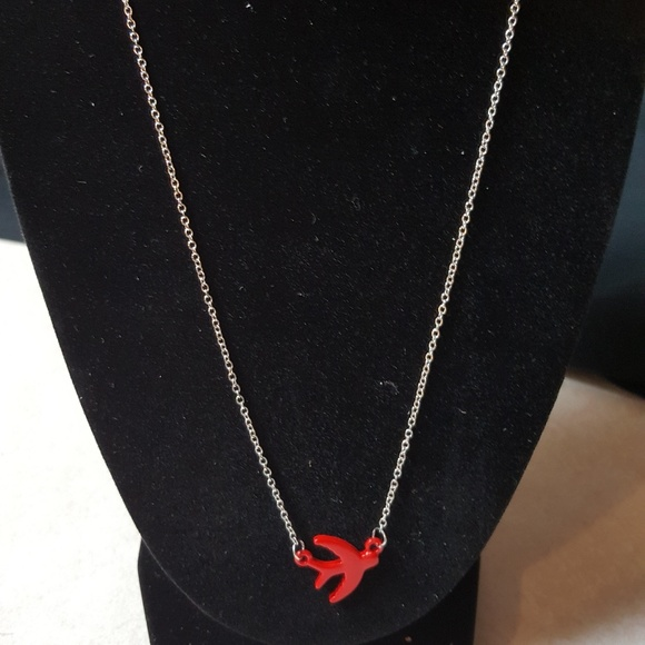 paparazzi Jewelry - Silver Necklace with Red Pendant